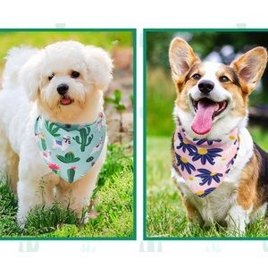 Puppy dog tie bandanas desert and daisy floral